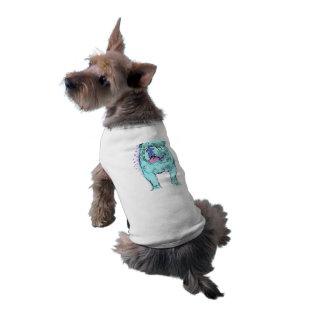 Art coloré unique de chien de bruit de bouledogue t-shirt pour chien