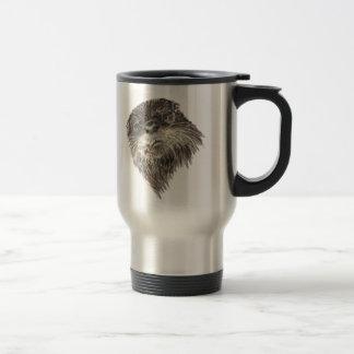 Art curieux mignon d'animal d'aquarelle de loutre mug de voyage