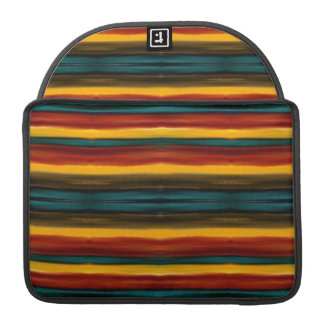 Art d'Aabstract Stiped Poche Pour Macbook