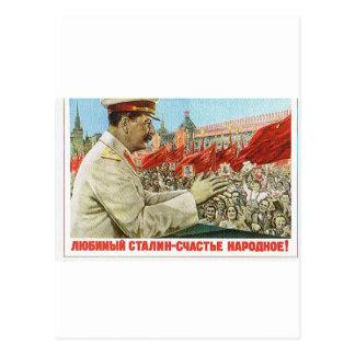 art d'affiche de stalin carte postale