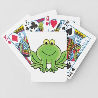 art d'amusement de grenouille de bande dessinée jeux de cartes