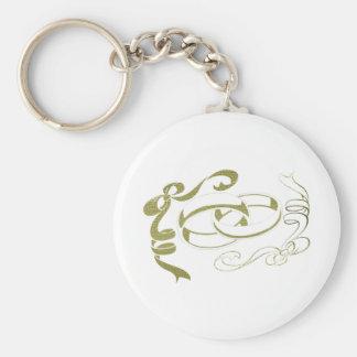 Art d'anneaux et d'arcs d'or porte-clé rond