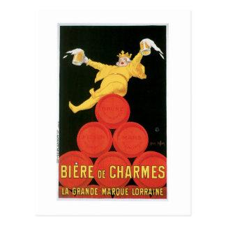 Art d'annonce de boissons de Biere De Charmes Carte Postale