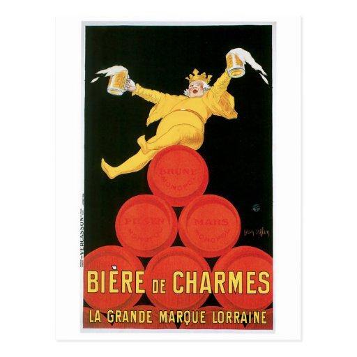 Art d'annonce de boissons de Biere De Charmes Vint Cartes Postales