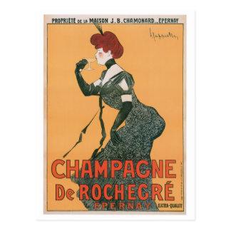 Art d'annonce de boissons de Champagne De Rochegre Cartes Postales