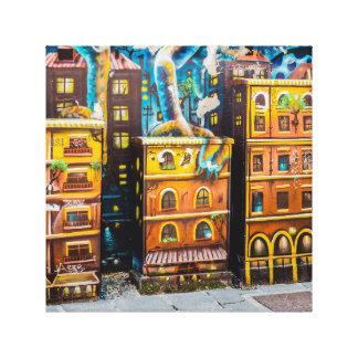 Art dans la toile d'art de graffiti de ville toiles