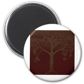 Art d'arbre de poésie magnet rond 8 cm