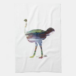 Art d'autruche serviettes éponge