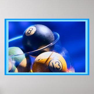 Art de billards de Blueball Posters
