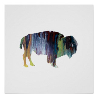 Art de bison posters