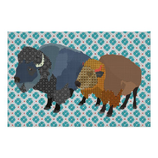 Art de bleu de Buffalo Posters