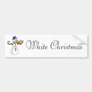 Art de bonhomme de neige de Noël Autocollant De Voiture