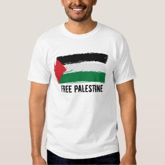 Art de brosse de drapeau de la Palestine - T-shirt