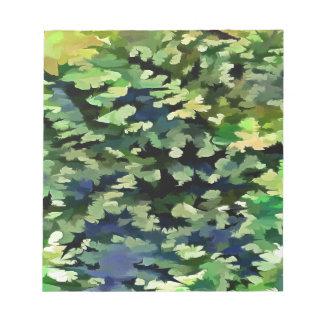 Art de bruit abstrait de feuillage dans vert et le blocs notes