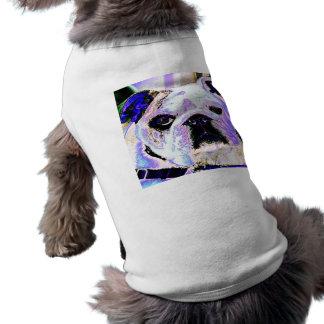 Art de bruit anglais de bouledogue t-shirt pour chien