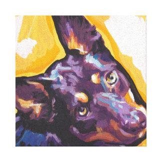 art de bruit australien de kelpie sur la toile toiles