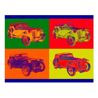 Art de bruit coloré de voiture ancienne de comité cartes postales