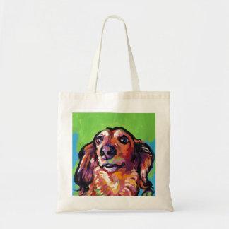 Art de bruit coloré lumineux de chien de doxie de tote bag