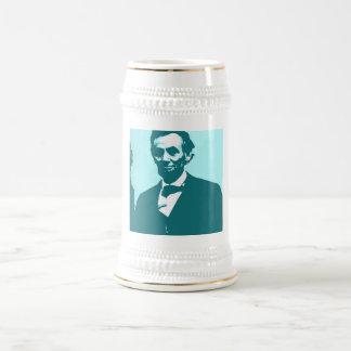 Art de bruit d'Abraham Lincoln Chope À Bière