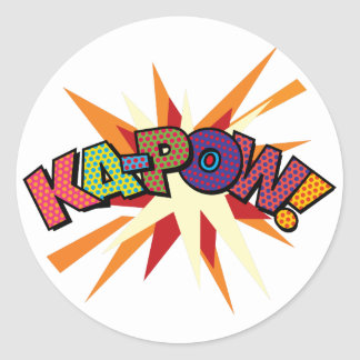 Art de bruit de bande dessinée KA-POW ! Sticker Rond