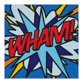 Art de bruit de bande dessinée VLAN ! Poster