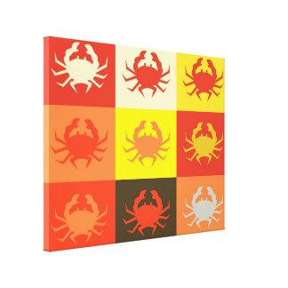 Art de bruit de conception graphique avec les crab toiles
