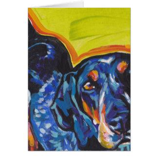 Art de bruit de Coonhound de Bluetick Carte De Vœux
