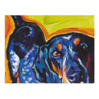Art de bruit de Coonhound de Bluetick Carte Postale