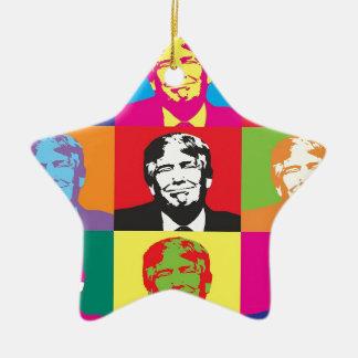 Art de bruit de Donald Trump Ornement Étoile En Céramique