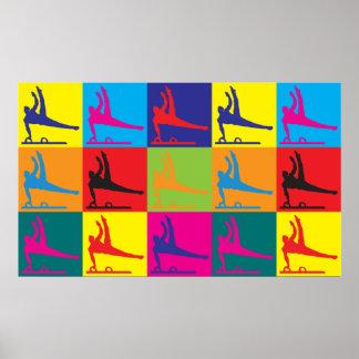 Art de bruit de gymnastique posters
