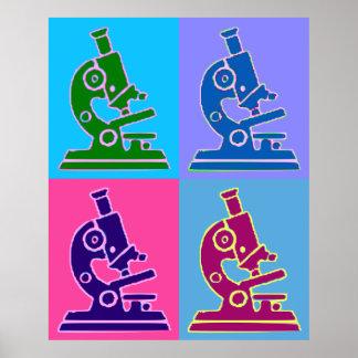 Art de bruit de microscope affiches