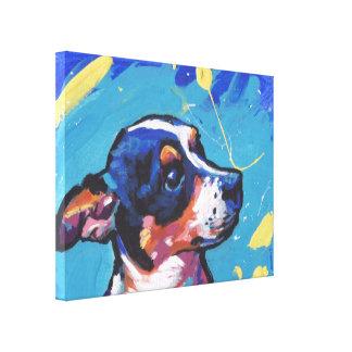 Art de bruit de Rat terrier sur la toile étirée Toiles