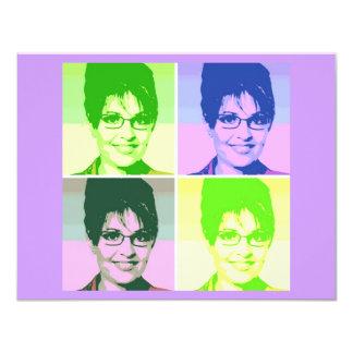 Art de bruit de Sarah Palin Carton D'invitation 10,79 Cm X 13,97 Cm