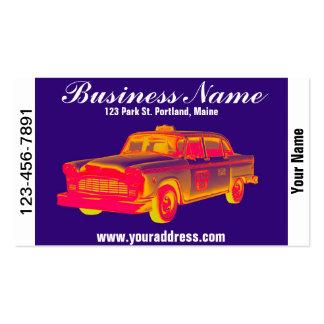 Art de bruit de taxi de cabine de contrôleur cartes de visite professionnelles