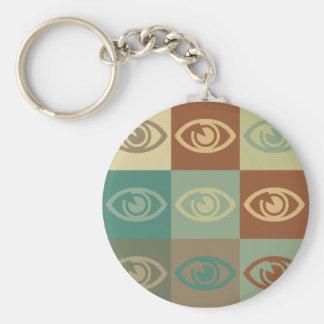 Art de bruit d'optométrie porte-clé rond