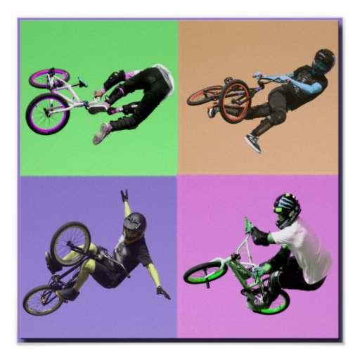 Art de bruit extrême de BMX, Copyright Karen J Wil Posters