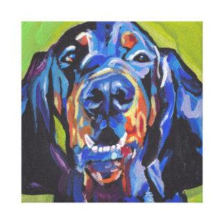 art de bruit lumineux de coonhound noir et toiles