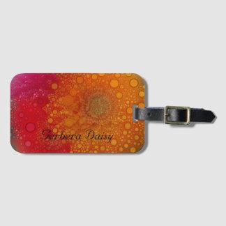 Art de bruit orange rouge de marguerite de Gerbera Étiquettes Bagages