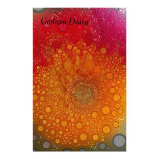 Art de bruit orange rouge de marguerite de Gerbera Papier À Lettre