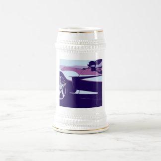 Art de bruit pourpre Corvette Chope À Bière