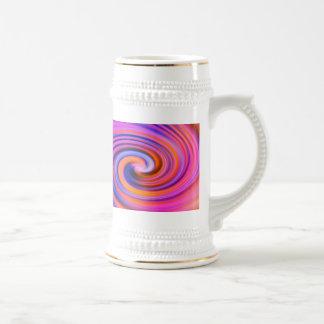 Art de bruit rose de remous de couleur tasse