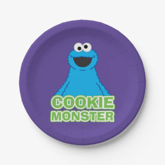 Art de caractère de monstre de biscuit assiettes en papier