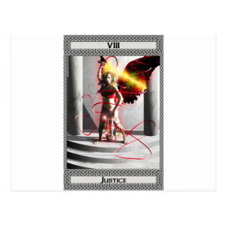 Art de carte de tarot de justice carte postale
