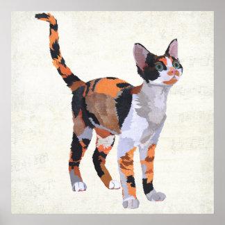 Art de CAT de CALICOT Posters