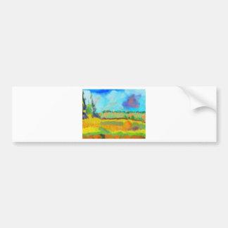 Art de champ, après Pissarro Autocollant De Voiture