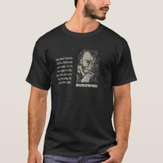 Art de Charles Bukowski avec la zone de texte T-shirt