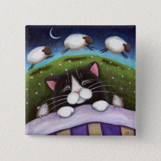 Art de chat et de souris d'imaginaire badge