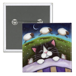 Art de chat et de souris d'imaginaire badge