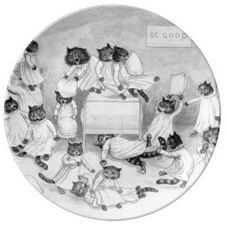 Art de chat par Louis Wain 1900 Assiette En Porcelaine