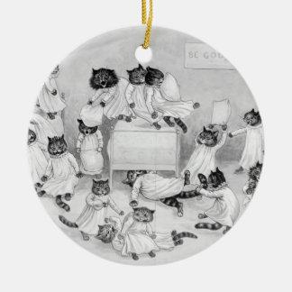 Art de chat par Louis Wain 1900 Ornement Rond En Céramique